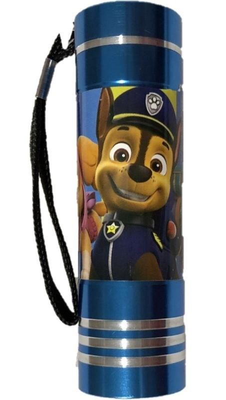 EUROSWAN Detská hliníková LED baterka Paw Patrol tyrkysová Hliník, Plast,  9x2,5 cm