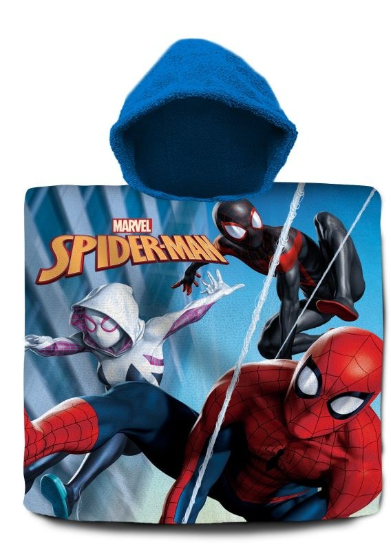 EUROSWAN Pončo Spiderman Paralelné svety  Bavlna - Froté, 60/120 cm