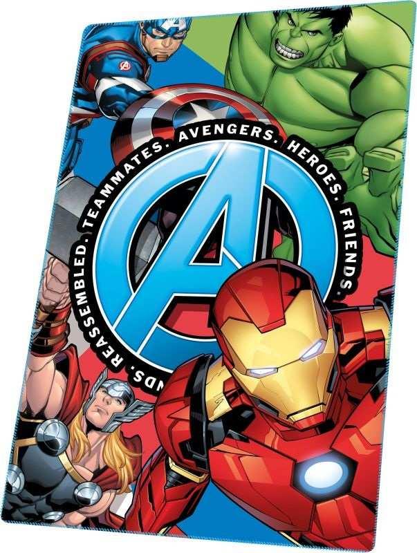 EUROSWAN Fleece deka Avengers Heroes  Polyester, 100/150 cm