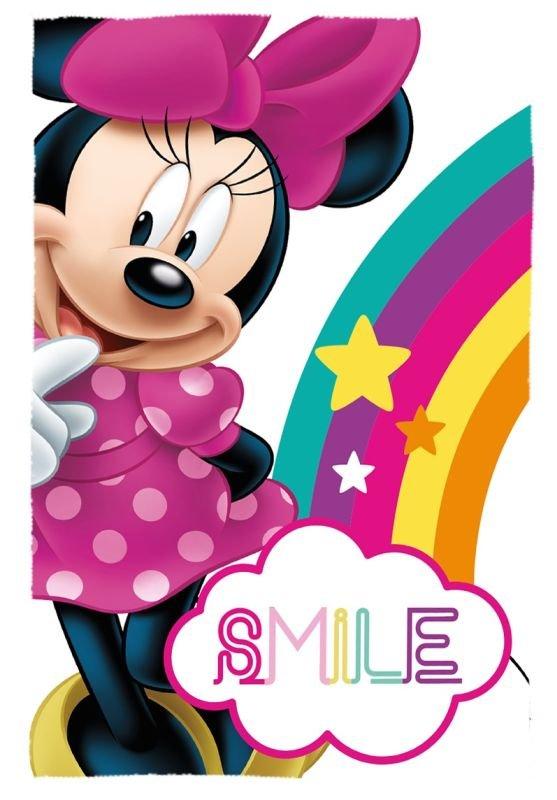 EUROSWAN Fleece deka Minnie Smile  Polyester, 100/150 cm