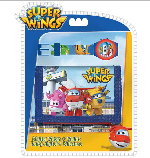 Dárčeková sada peňaženka a hodinky Super Wings