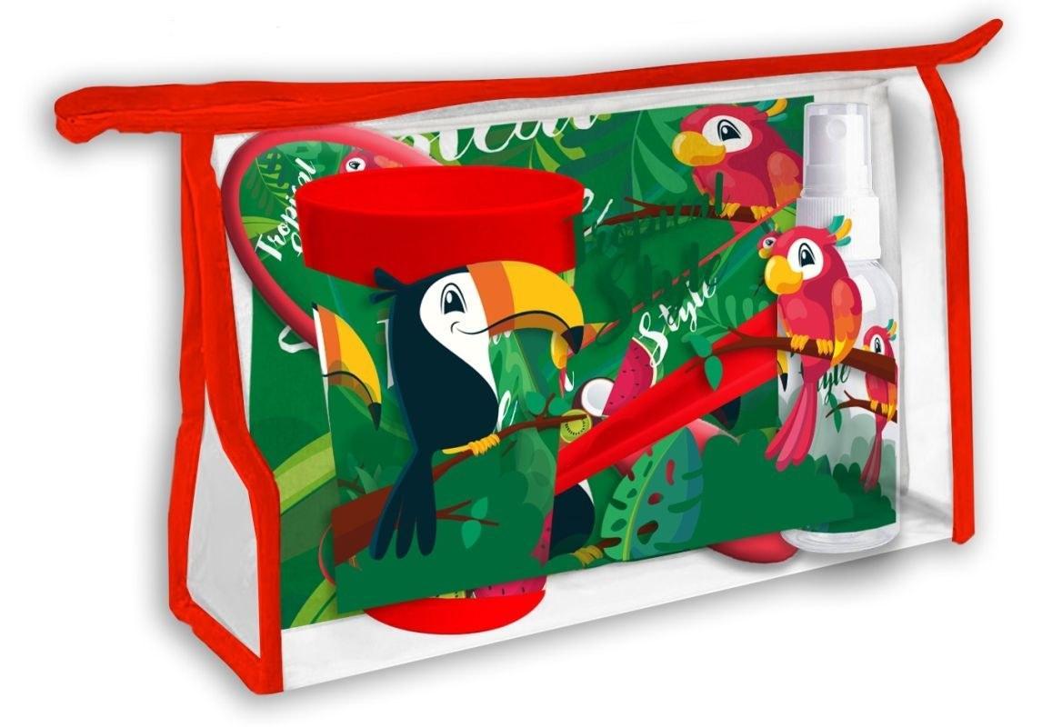 EUROSWAN Kozmetická taška vybavená Tukan Polyester, PVC, 23x15x8 cm