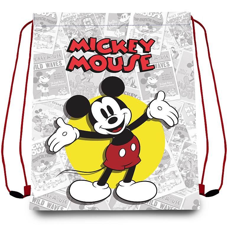 EUROSWAN Taška na telocvik a prezúvky Mickey klasik  Polyester, 41/33 cm