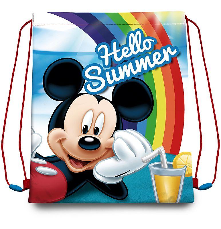 EUROSWAN Taška na telocvik a prezúvky Mickey Summer  Polyester, 41/33 cm