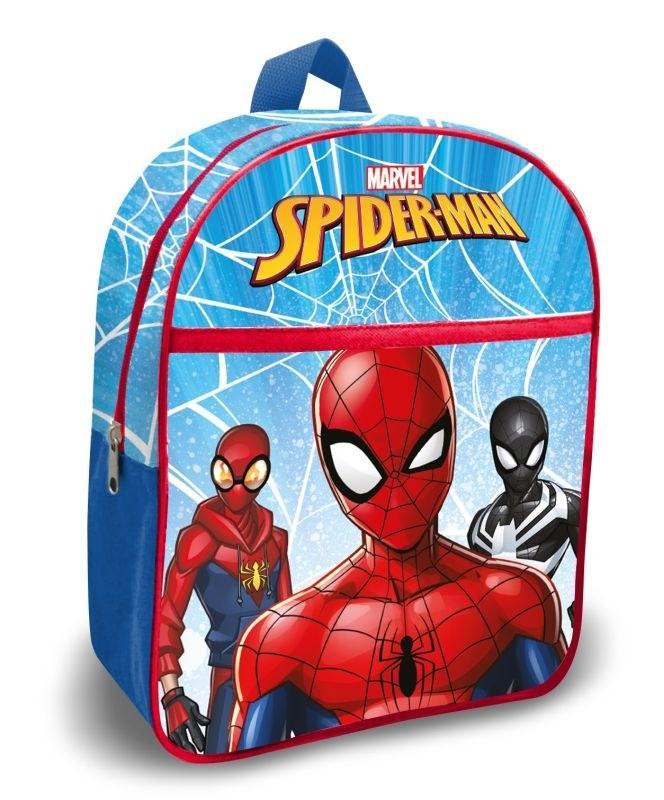 EUROSWAN Detský batoh s vreckom Spiderman blue  Polyester, 30 cm