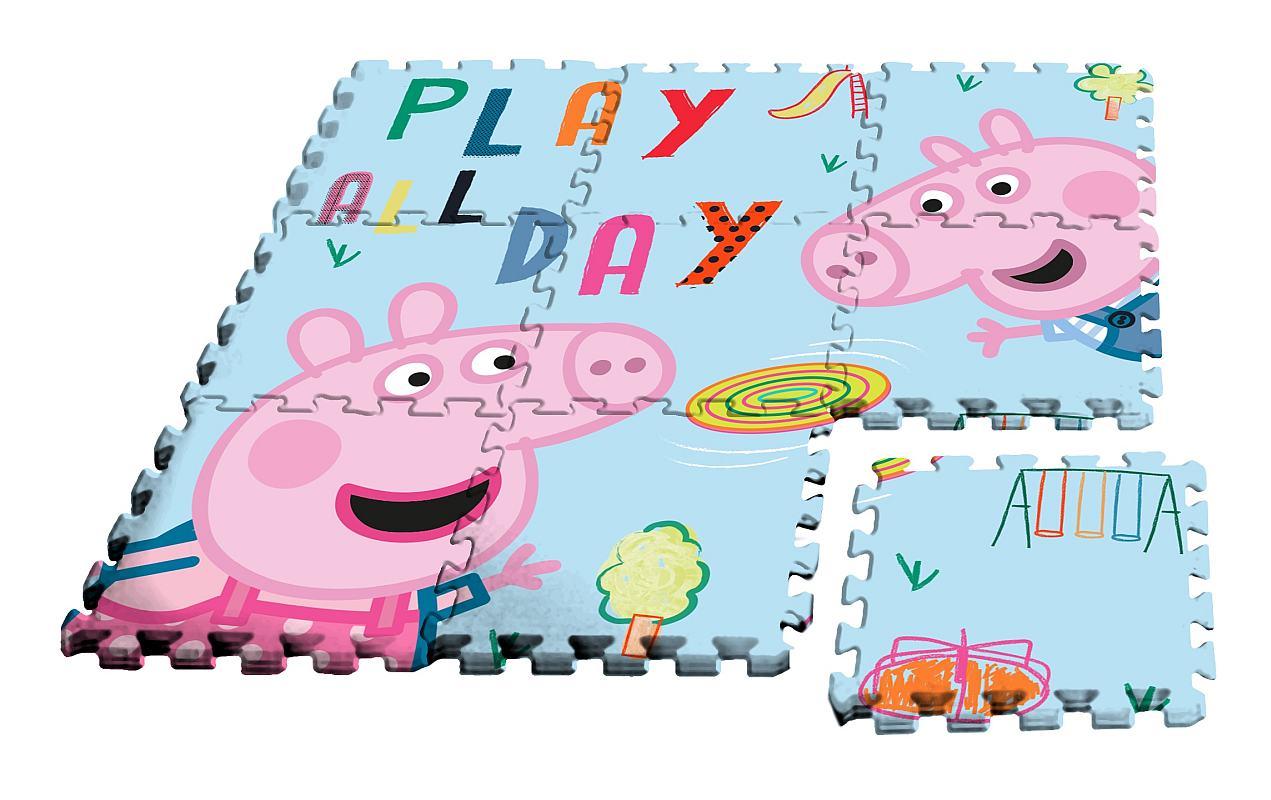 EUROSWAN Podlahové penové puzzle Peppa Pig  Eva, 9 dílu