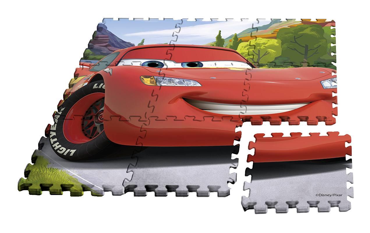 EUROSWAN Podlahové penové puzzle Cars  Eva, 9 dílu