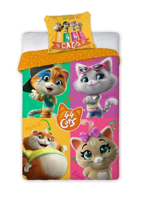 FARO Obliečky 44 Cats Bavlna, 140/200, 70/90 cm