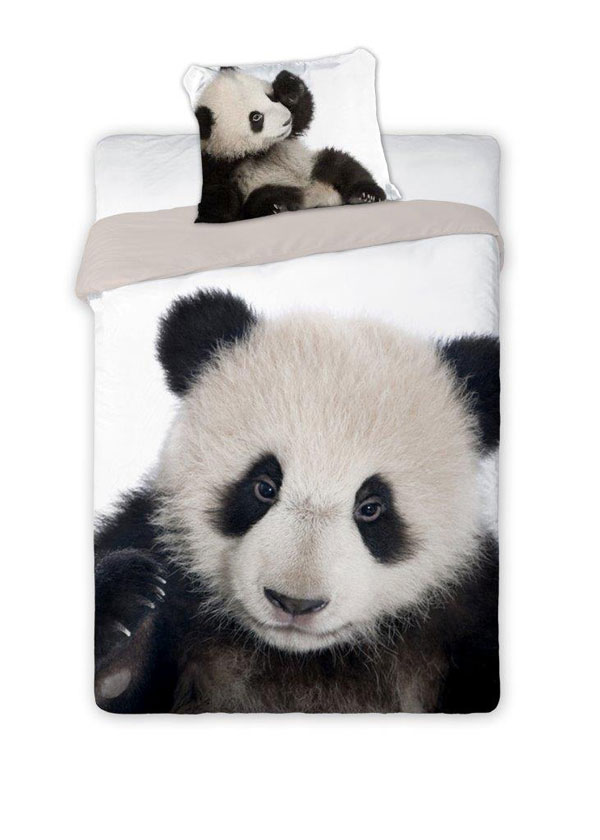 Obliečky Panda 140/200, 70/90