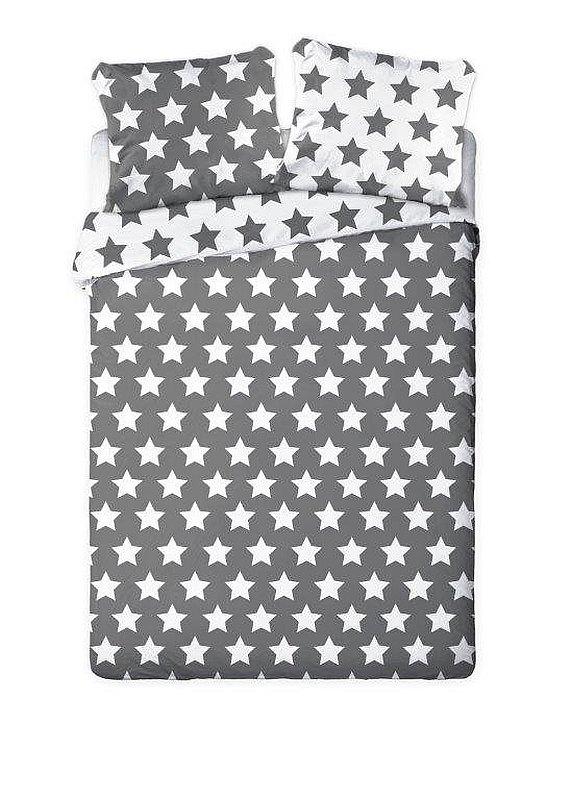 FARO Francúzske obliečky Hviezdy šedé  Bavlna, 220/200, 2x70/80 cm