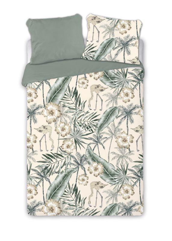 FARO Francúzske obliečky Plameniaky  Bavlna, 220/200, 2x70/80 cm
