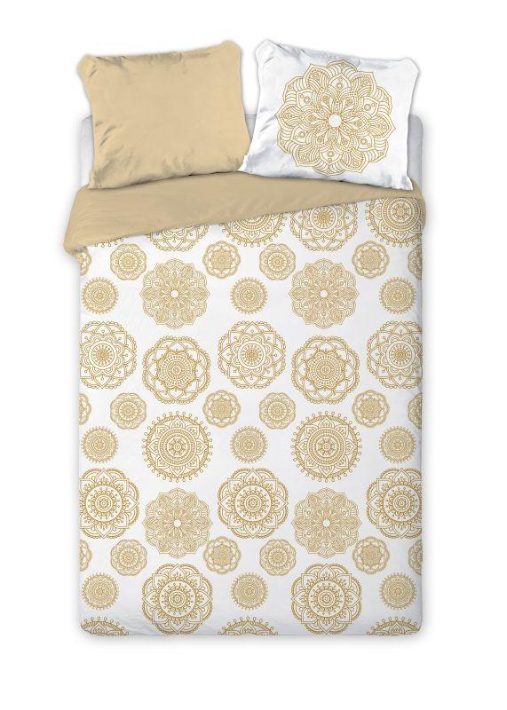 FARO Francúzske obliečky Mandala béžová  Bavlna, 220/200, 2x70/80 cm
