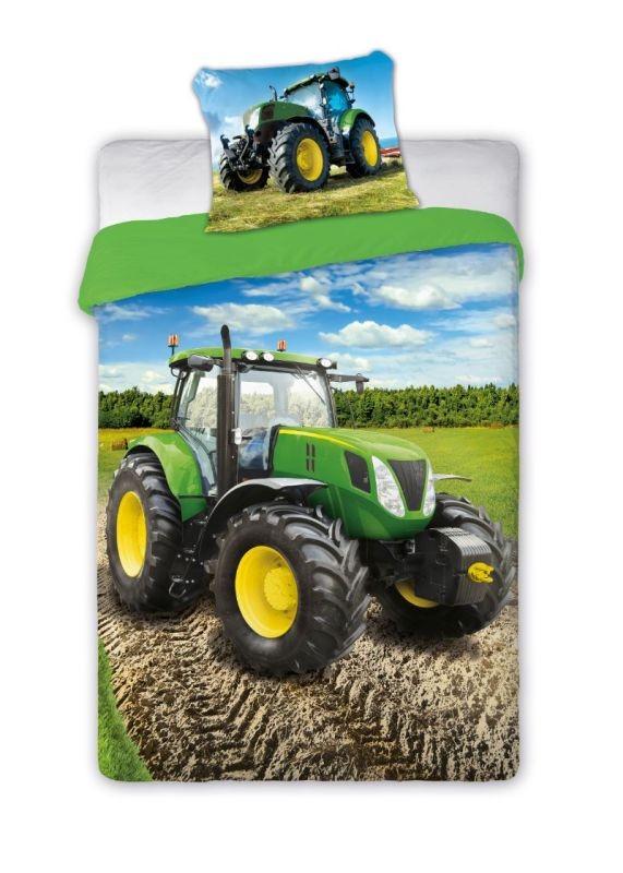 FARO Obliečky Traktor zelený  Bavlna, 140/200, 70/90 cm
