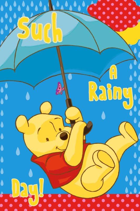 Detský uterák Macko Pu s dáždnikom 60/40