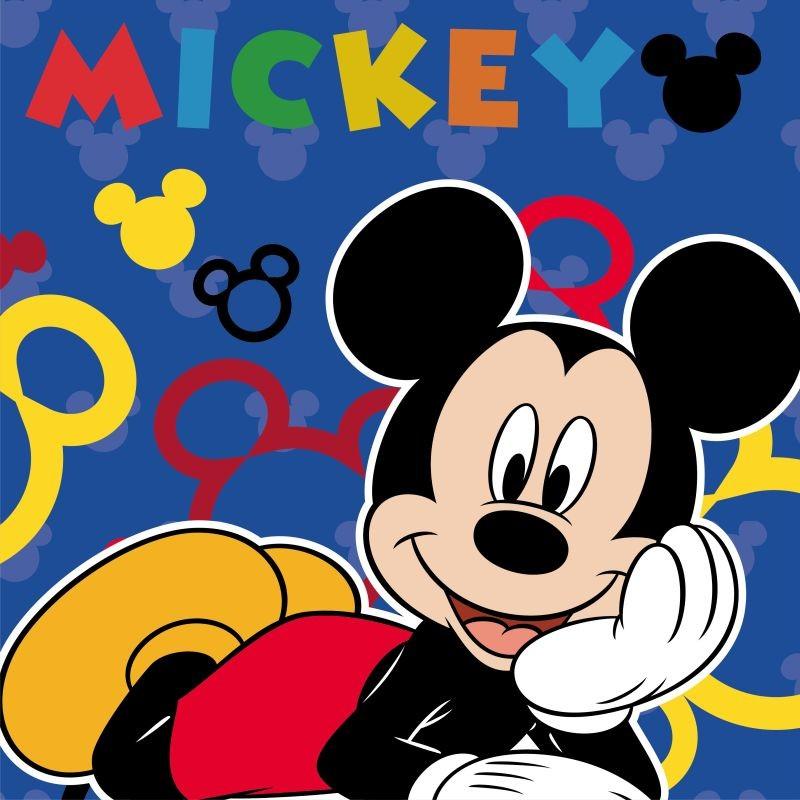 FARO Magický uteráčik Mickey blue  Bavlna - Froté, 30/30 cm