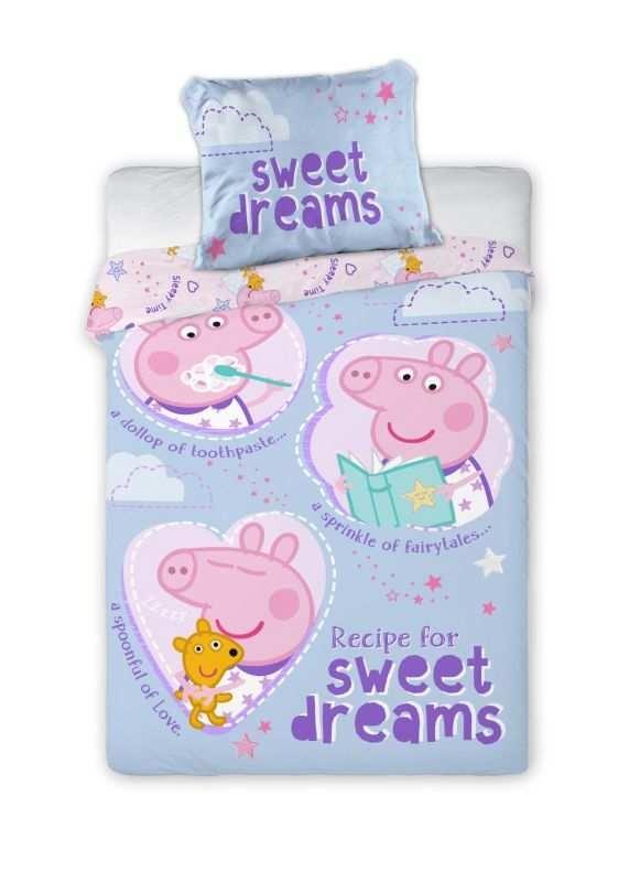 Obliečky do postieľky Peppa Pig sladké sny 100/135, 40/60