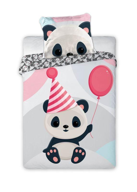 Obliečky do postieľky Panda  Bavlna, 100/135, 40/60 cm