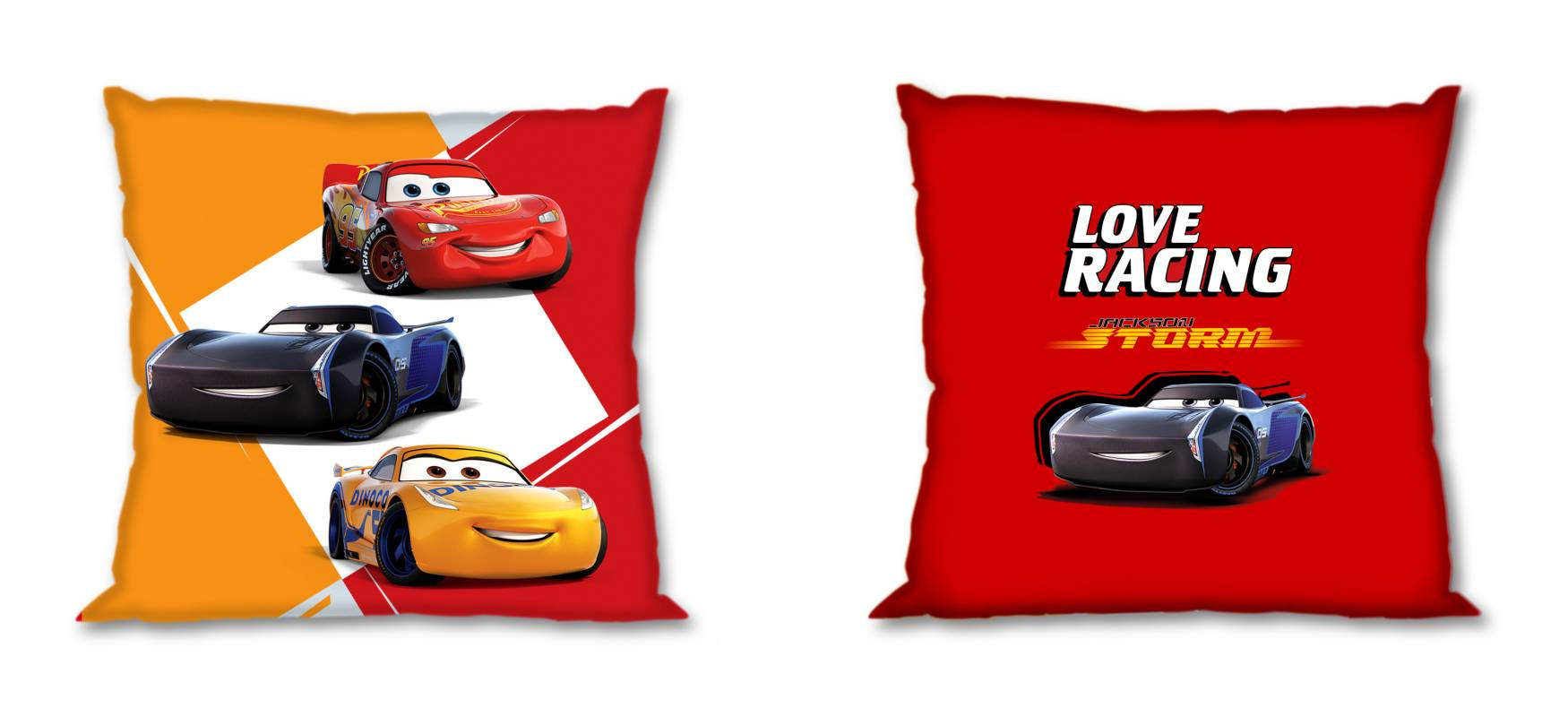 FARO Obliečka na vankúšik Cars Love Racing  Bavlna, 40/40 cm