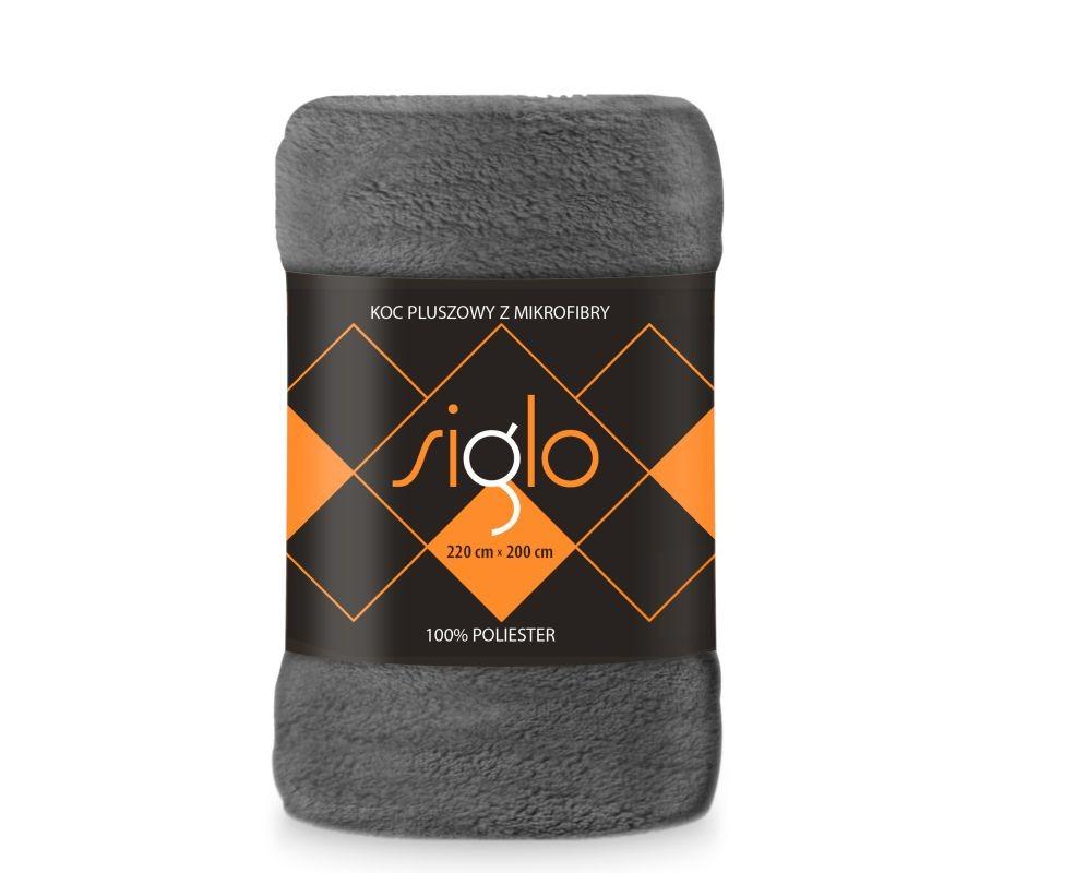 FARO Deka mikroplyš super soft tmavo sivá  Polyester, 220/200 cm