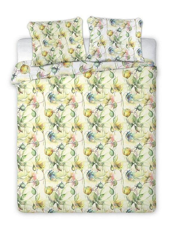 FARO Francúzske obliečky bavlnený satén Aquarell herbár  Bavlna - Satén, 220/200, 2x70/80 cm