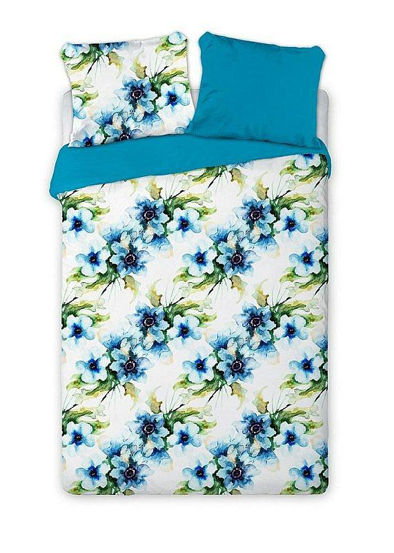 FARO Francúzske obliečky bavlnený satén Aquarell kvety  Bavlna - Satén, 220/200, 2x70/80 cm