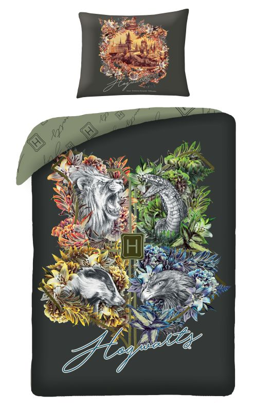 HALANTEX Obliečky Harry Potter Hogwarts  Bavlna, 140/200, 70/90 cm
