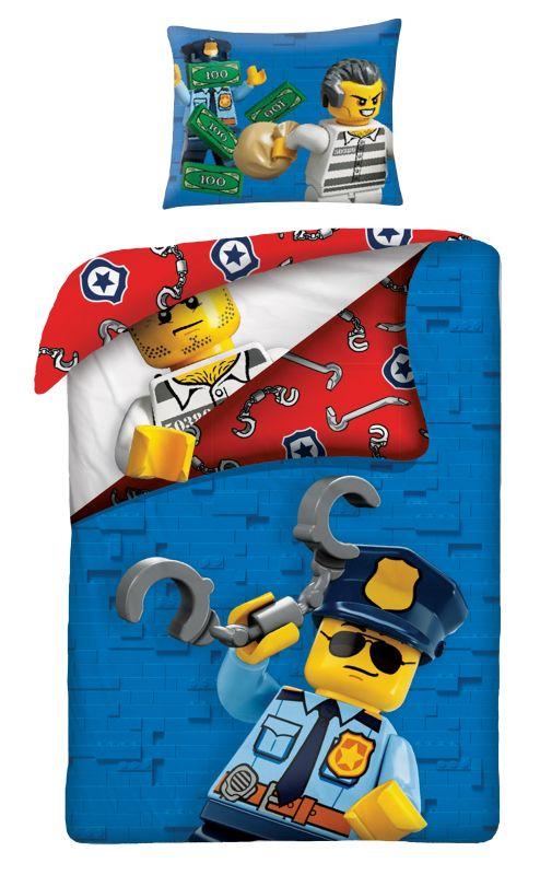 HALANTEX Obliečky Lego blue  Bavlna, 140/200, 70/90 cm