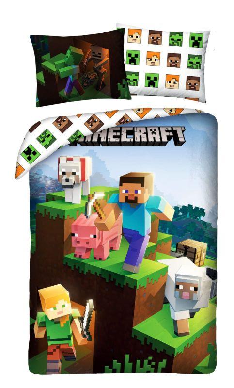 HALANTEX Obliečky Minecraft Farma animals  Bavlna, 140/200, 70/90 cm