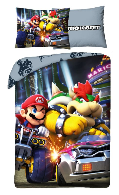 HALANTEX Obliečky Super Mario Bowser  Bavlna, 140/200, 70/90 cm