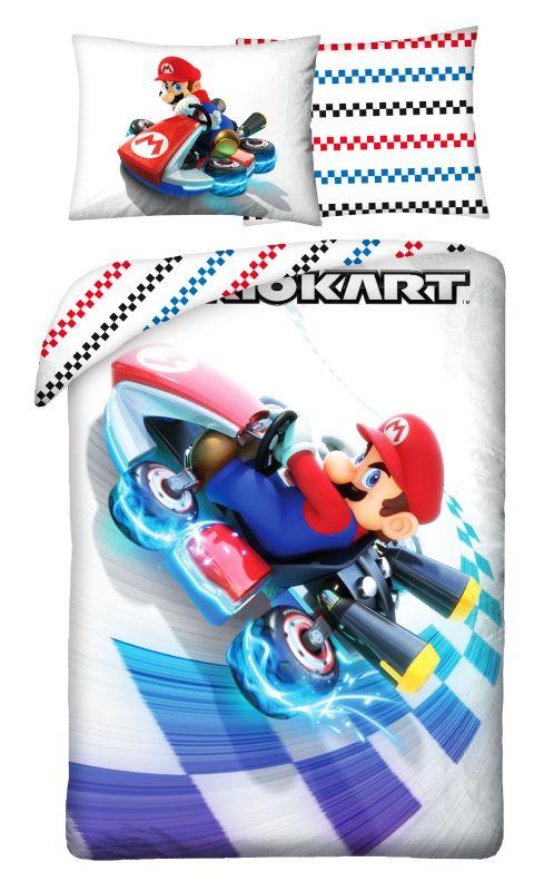 HALANTEX Obliečky Super Mario motokára  Bavlna, 140/200, 70/90 cm