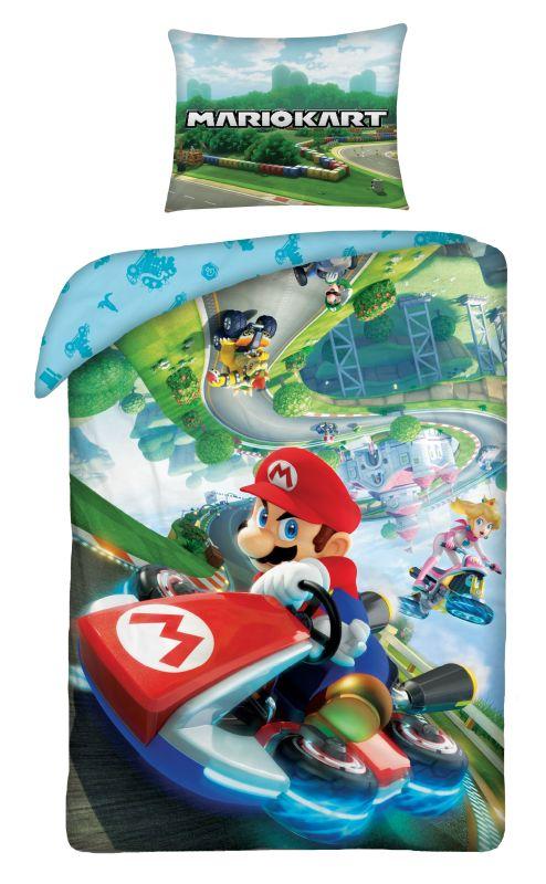 HALANTEX Obliečky Super Mario dráha  Bavlna, 140/200, 70/90 cm