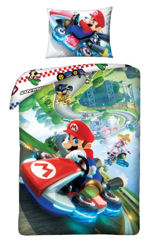 HALANTEX Obliečky Super Mario Kart  Bavlna, 140/200, 70/90 cm