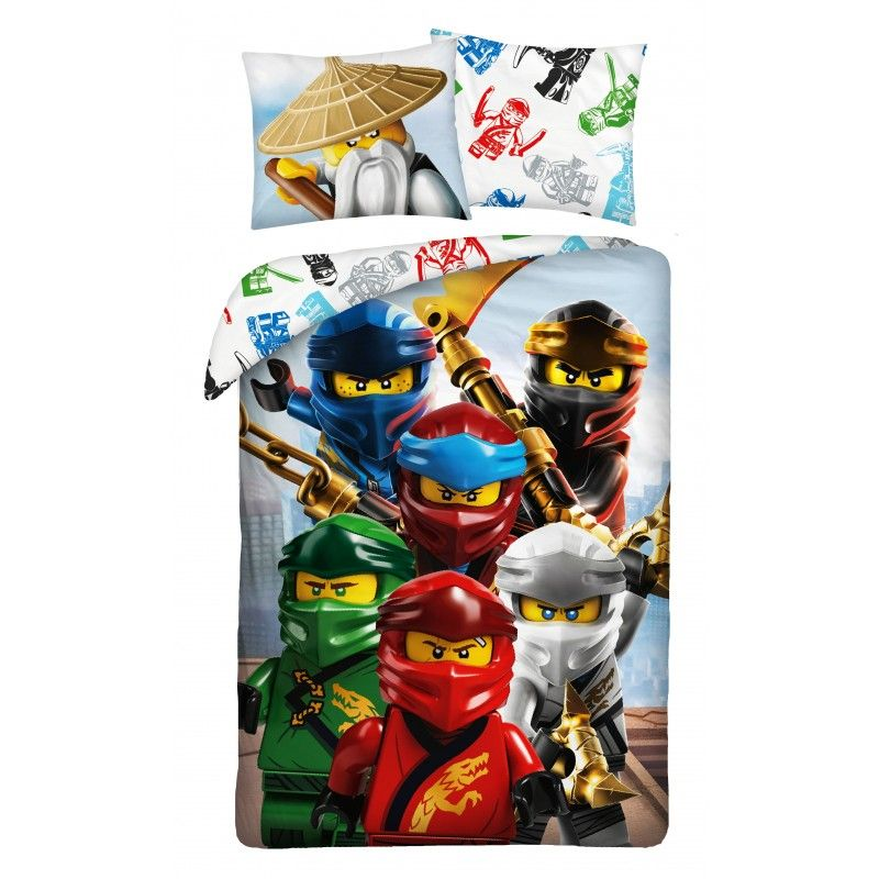 HALANTEX Obliečky Lego Ninjago mesto  Bavlna, 140/200, 70/90 cm