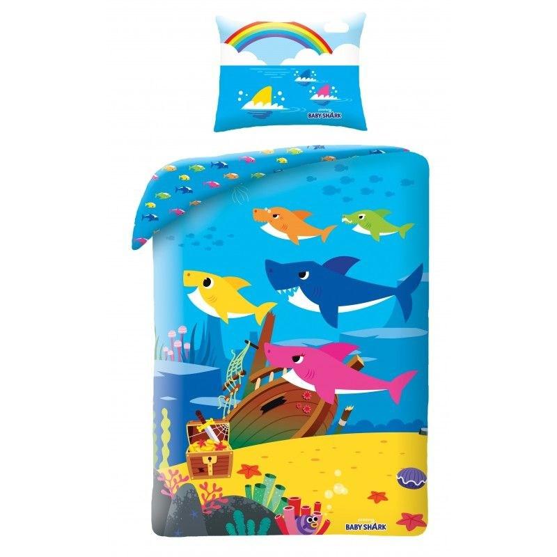 Obliečky Baby Shark Poklad 140/200, 70/90 cm