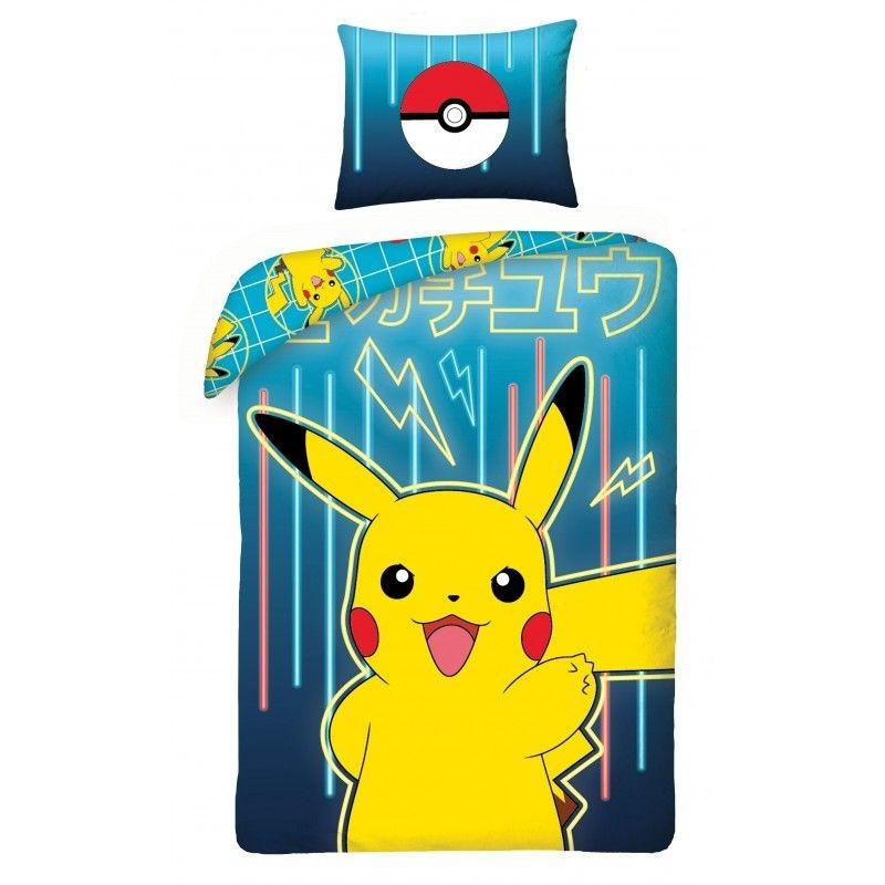 HALANTEX Obliečky Pokémon Pikachu  Bavlna, 140/200, 70/90 cm