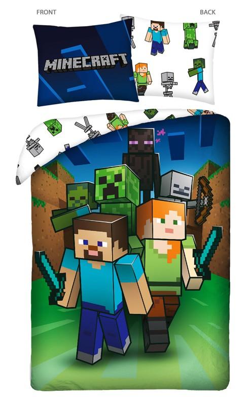 HALANTEX Obliečky Minecraft Attack  Bavlna, 140/200, 70/90 cm