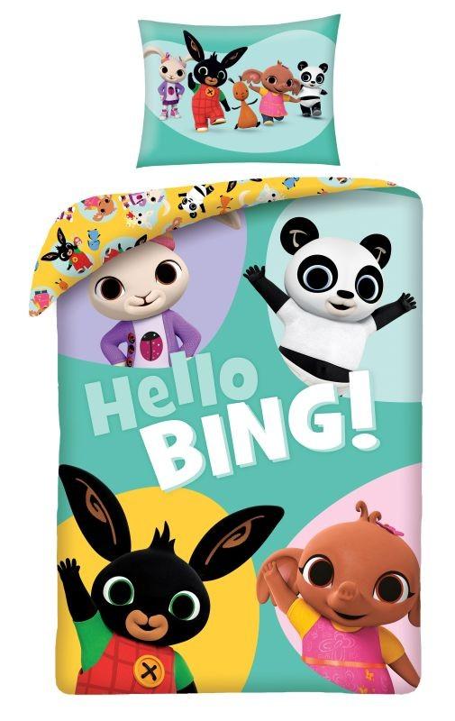 HALANTEX Obliečky do postieľky vo vaku Zajačik Bing Hello  Bavlna, 100/135, 40/60 cm