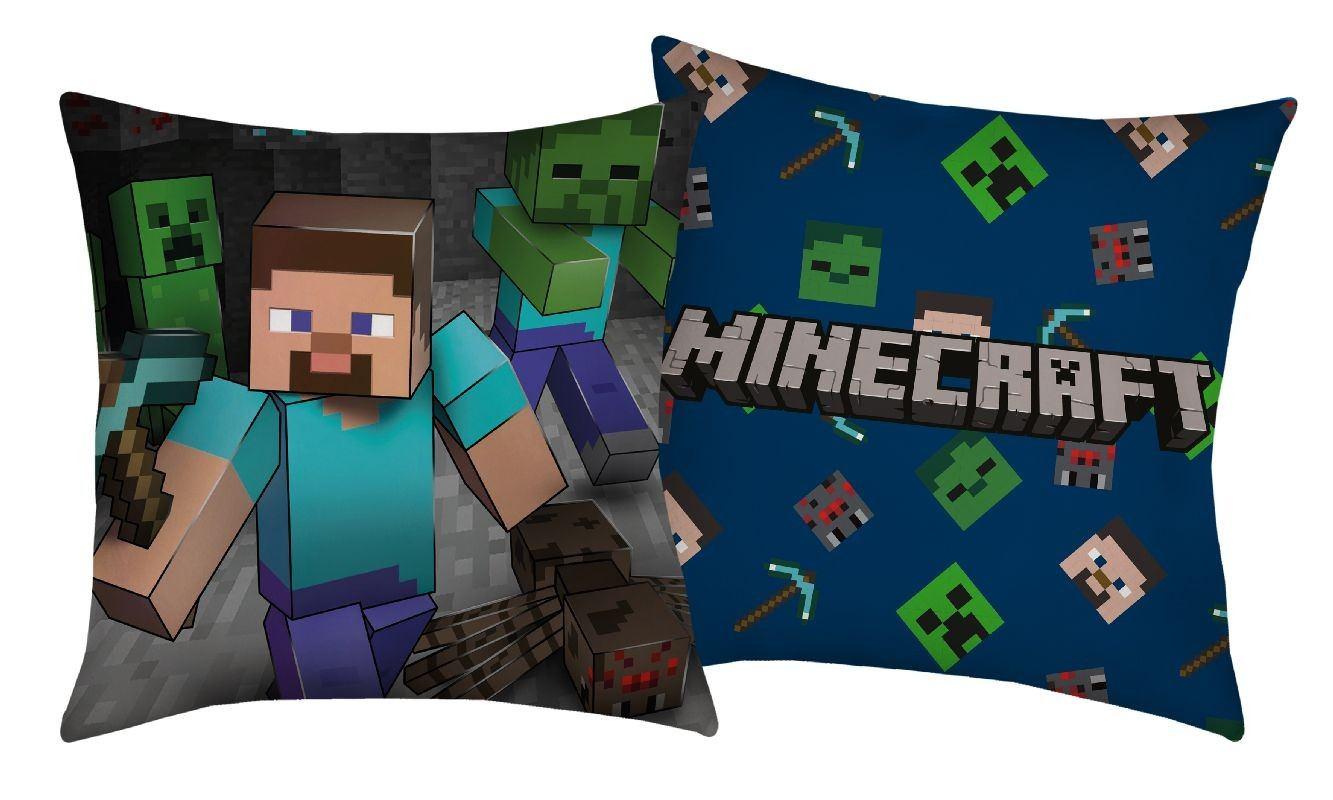 HALANTEX Vankúšik Minecraft Steve  Polyester, 40/40 cm