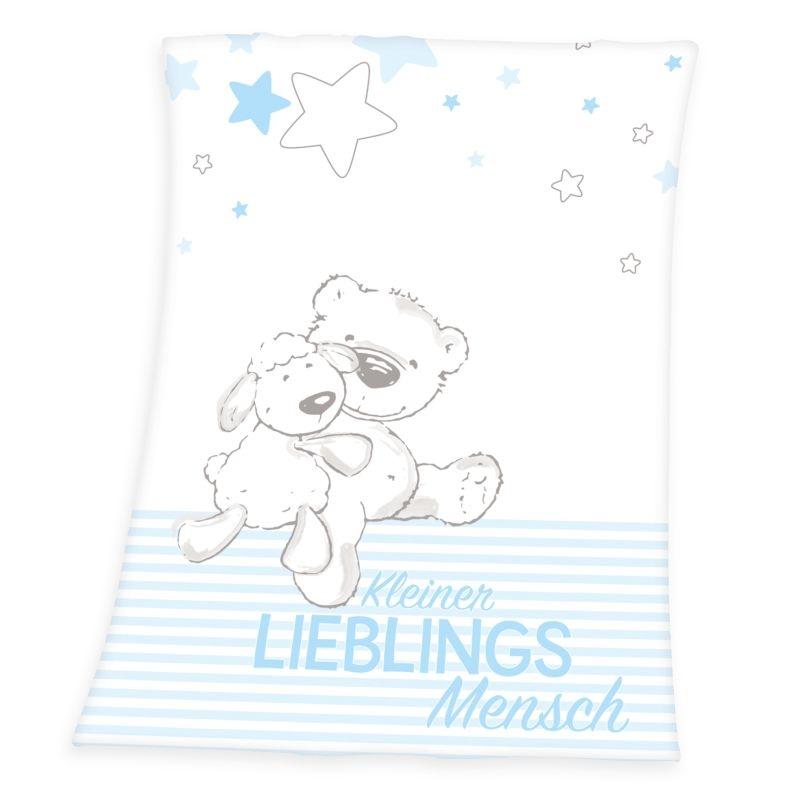 HERDING Micropolar fleece deka Miláčik modrá  Polyester, 75/100 cm