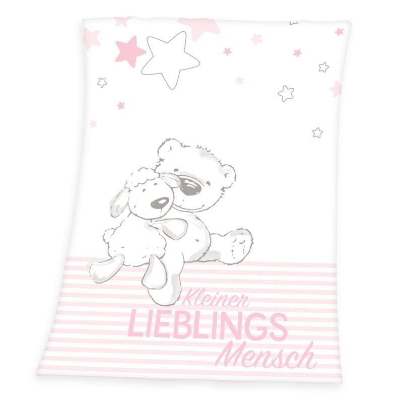 HERDING Micropolar fleece deka Miláčik ružová  Polyester, 75/100 cm