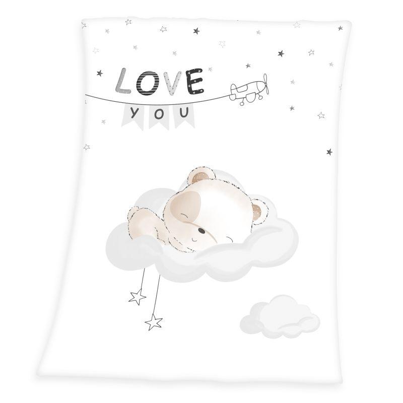 HERDING Soft fleece deka Malý Macko  Polyester, 75/100 cm