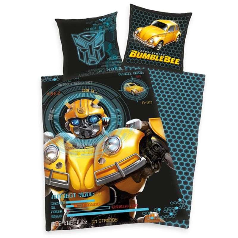 HERDING Obliečky Transformers Bumblebee  Bavlna, 140/200, 70/90 cm