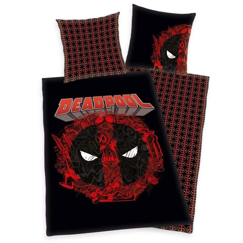 HERDING Obliečky Marvel Deadpool  Bavlna, 140/200, 70/90 cm