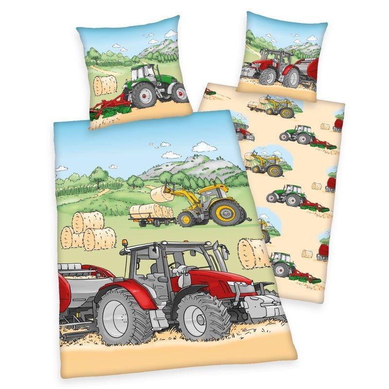 HERDING Obliečky Traktor  Bavlna, 140/200, 70/90 cm