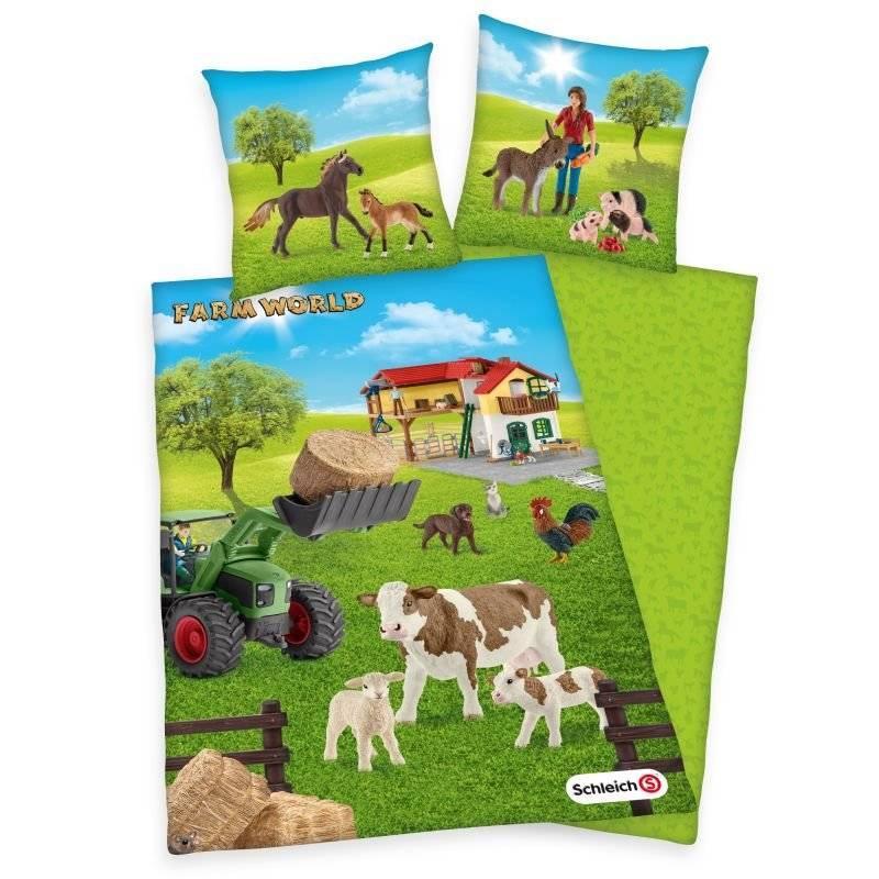HERDING Obliečky Schleich Farm World  Bavlna, 140/200, 70/90 cm