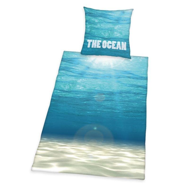 HERDING Obliečky Oceán  Bavlna, 140/200, 70/90 cm