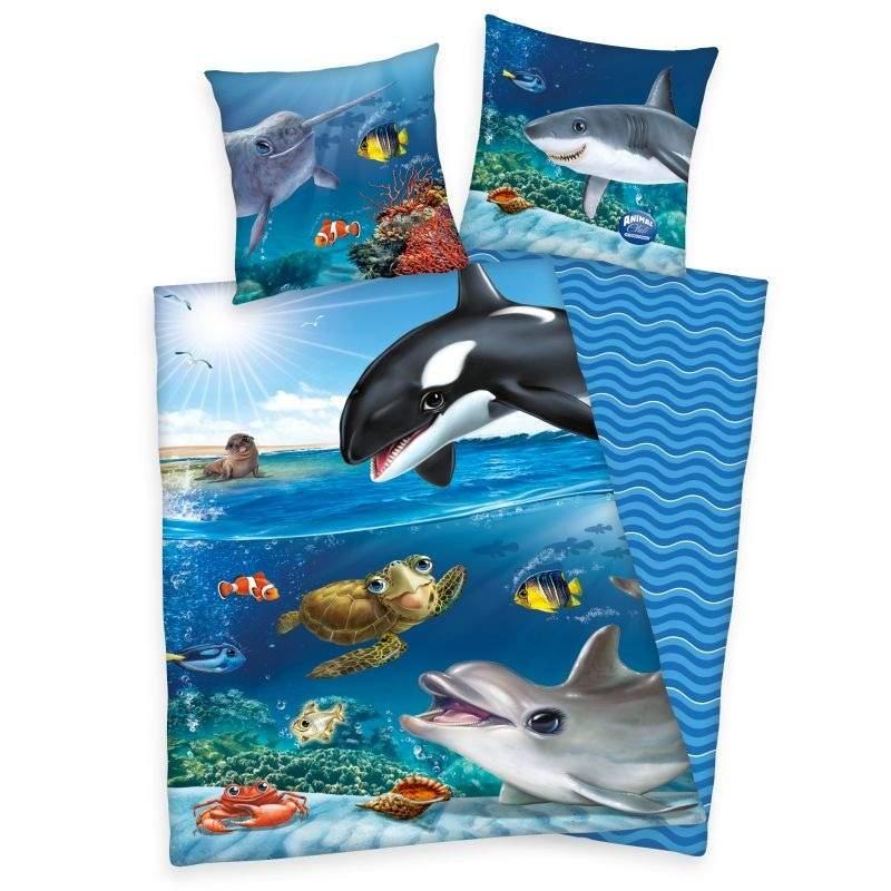HERDING Obliečky Animal Club Oceán  Bavlna, 140/200, 70/90 cm
