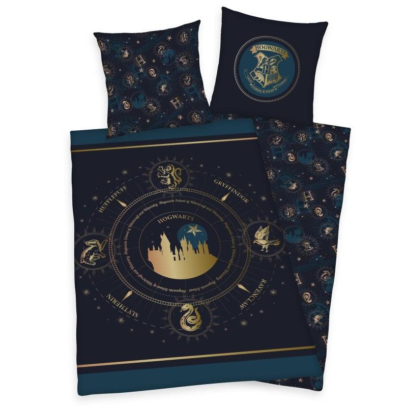 HERDING Obliečky Harry Potter Gold  Bavlna, 140/200, 70/90 cm