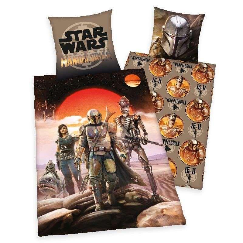 HERDING Obliečky Star Wars Mandalorian  Bavlna, 140/200, 70/90 cm