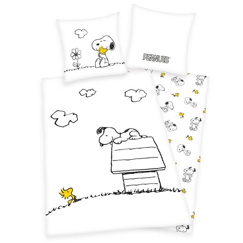 HERDING Obliečky Snoopy  Bavlna, 140/200, 70/90 cm